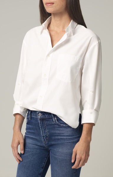 KAYLA SHIRT IN OPTIC WHITE