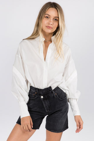 BUTTON DETAILED SLEEVES SHIRT