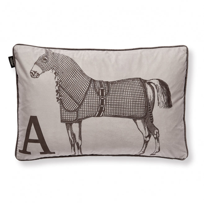 CUSHION HORSE TAUPE