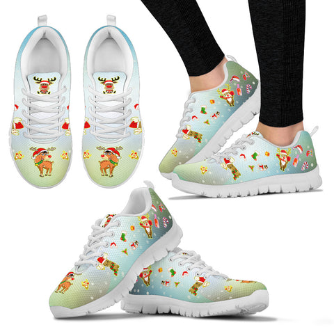 Christmas Deer Women's Sneakers