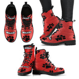 Are You A Diehard Cat Mom & Outdoors Fan? Turn your Winter Vegan Friendly Leather Ranger Boots into a Piece of Pawfect Cat Design Art!, Boots, FamilyTrophy.com, FamilyTrophy.com - FamilyTrophy.com