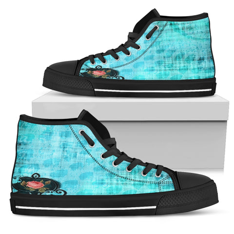 Vday Women's High Top Canvas Blue Black, , FamilyTrophy.com, FamilyTrophy.com - FamilyTrophy.com