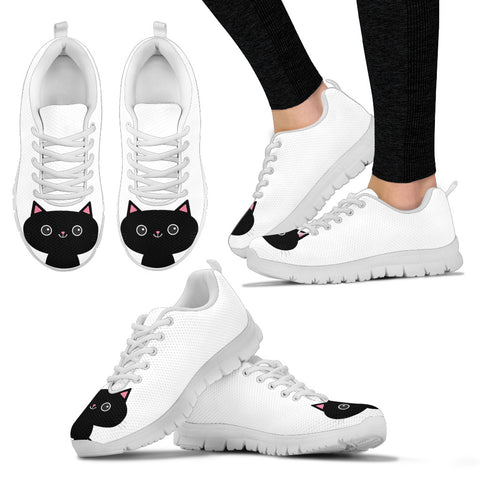 Black Cat Women's Sneakers, , FamilyTrophy.com, FamilyTrophy.com - FamilyTrophy.com