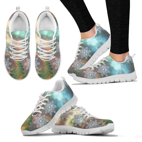 White Christmas Universe Women's Sneakers