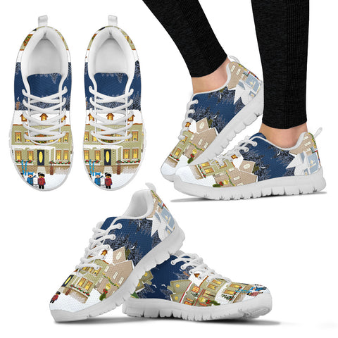 White Christmas Women's Sneakers