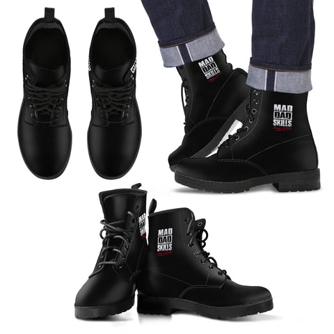 Black Men's Leather Boots, , FamilyTrophy.com, FamilyTrophy.com - FamilyTrophy.com