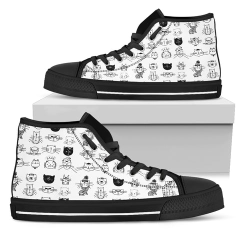 Black and white Women's High Top, , FamilyTrophy.com, FamilyTrophy.com - FamilyTrophy.com