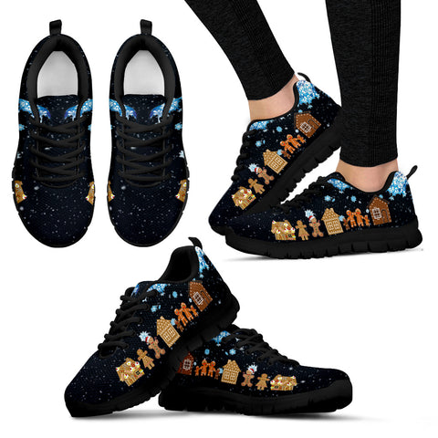 Ginger Bread Christmas Women's Sneakers