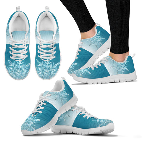 White Christmas Icy Flakes Women's Sneakers