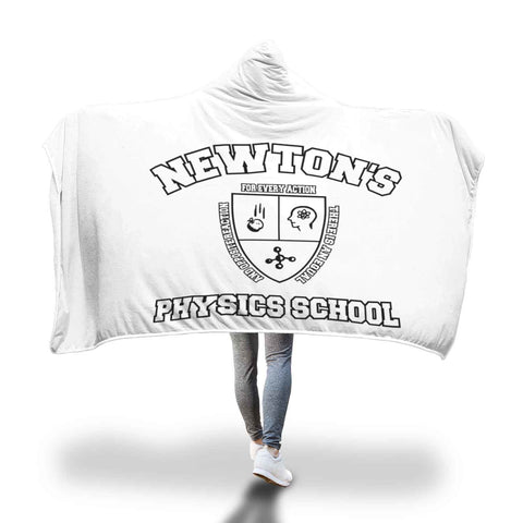 Custom Designed Hooded Blanket Newton's Physics School, Hooded Blanket, wc-fulfillment, FamilyTrophy.com - FamilyTrophy.com