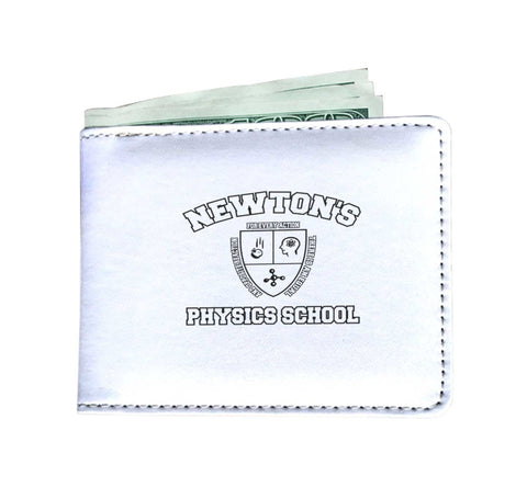 Custom Designed Mens Wallet - Newton's Physics School, Mens Wallet, wc-fulfillment, FamilyTrophy.com - FamilyTrophy.com