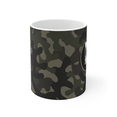 Ceramic Winter Mug For Dads - Mad Dad Skills Camo Cup Holiday Gift For Fathers