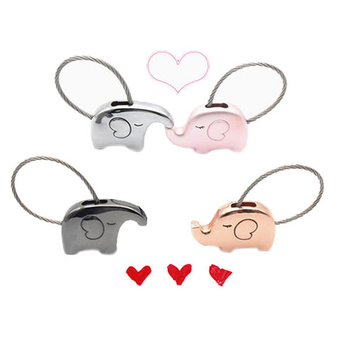 1pair Elephant Couple Keychain Cute Key Ring Metal Pendant Fashion Jewelry Gift For Lovers Couple M454, Key Chains, Casia Garden88 Store, FamilyTrophy.com - FamilyTrophy.com