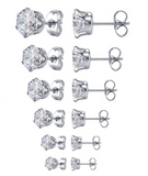 Women's Stainless Steel Cubic Zirconia Stud Earring Perfect Gift For Her!, Jewelry, Family Trophy, FamilyTrophy.com - FamilyTrophy.com