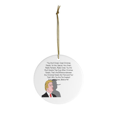 Great Ceramic Christmas Ornaments For Trump Fans - Donald Trump Ornament Holiday Gift For Fanatics