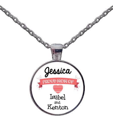 Personalized Proud Mom Necklace, Jewelry, Trexify, FamilyTrophy.com - FamilyTrophy.com