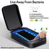Revolutionary UV Sterilization & Disinfection Gadget For Cell Phone & Smart Phone - Ultraviolet Germ & Virus Cleaner & Sanitizer - Multi-Functional Tech Gift For Disinfectant Of Small Items, Aromatherapy, Sterilization & Wireless USB Charger