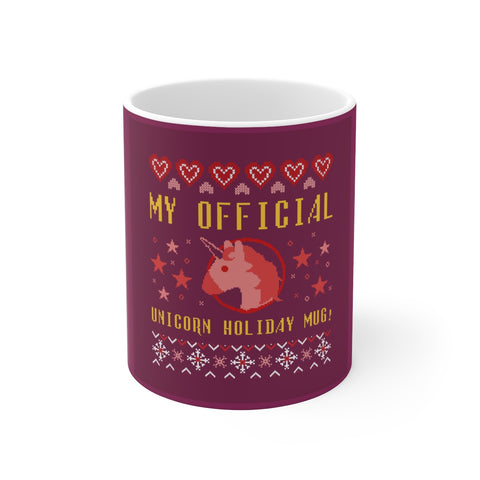 Ceramic Mug For Unicorn Lovers -Official Unicorn Ugly X-Mas Sweater Mug