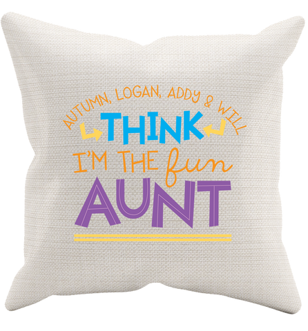 Personalized Aunt's 1 Pillowcase, Pillow Case, Trexify, FamilyTrophy.com - FamilyTrophy.com
