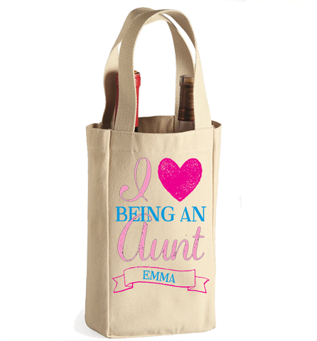 Personalized Aunt's 3 Winebag, Wine Bag, Trexify, FamilyTrophy.com - FamilyTrophy.com
