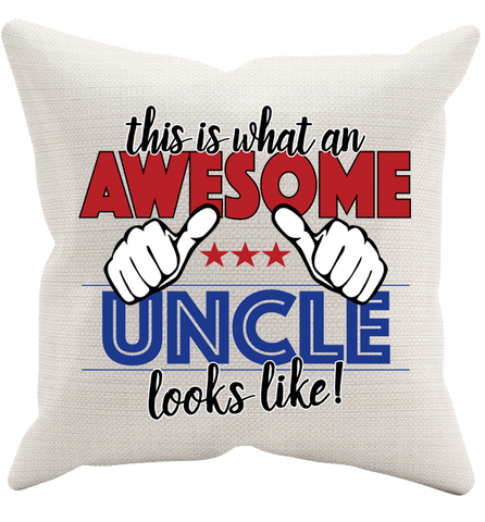 Awesome Uncle Pillowcase, Pillow Case, Trexify, FamilyTrophy.com - FamilyTrophy.com