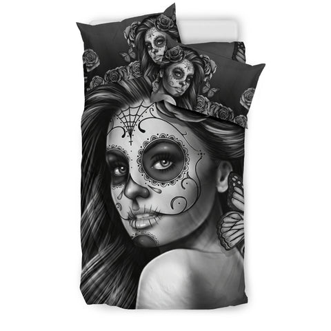 Bedding Set Calavera (Gray on Beige), , FamilyTrophy.com, FamilyTrophy.com - FamilyTrophy.com