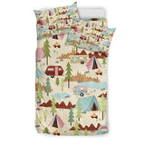 Bedding Set - Beige - Let's Go Camping Bedding Set - FamilyTrophy.com
