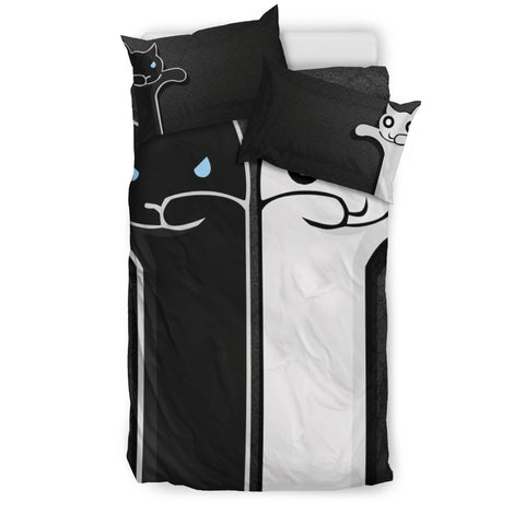 Couple Cats in Love Bedding Set - FamilyTrophy.com
