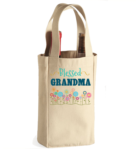 Blessed Grandma Winebag, Wine Bag, Trexify, FamilyTrophy.com - FamilyTrophy.com