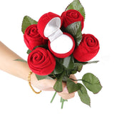 Best Quality Best Quality Red Rose Jewelry Box Wedding Ring Gift Case Earrings Storage Display Holder, Jewelry Packaging & Display, Beautiful & Handsome Store, FamilyTrophy.com - FamilyTrophy.com