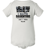 Personalized Daughters Onesie, Onesie, Trexify, FamilyTrophy.com - FamilyTrophy.com