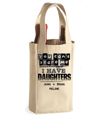 Personalized Daughters Winebag, Wine Bag, Trexify, FamilyTrophy.com - FamilyTrophy.com