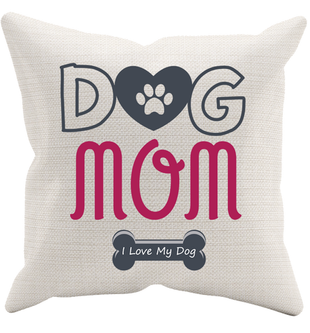 Dog Mom Pillowcase, Pillow Case, Trexify, FamilyTrophy.com - FamilyTrophy.com