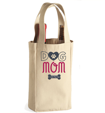 Dog Mom Winebag, Wine Bag, Trexify, FamilyTrophy.com - FamilyTrophy.com