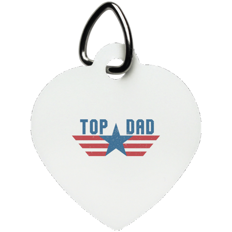 Funny Father's Day Gift For Dad From Wife, Daughter, Son, Stepdaughter, Stepson, Mom, Grandma, Mother In Law (6 od_1495732598337421 UN5770 Heart Pet Tag)
