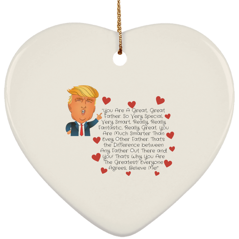 Funny Father's Day Gift For Dad From Wife, Daughter, Son, Stepdaughter, Stepson, Mom, Grandma, Mother In Law (Add heading (8) transp backg SUBORNH Ceramic Heart Ornament)