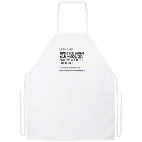 Funny Father's Day Gift For Dad From Wife, Daughter, Son, Stepdaughter, Stepson, Mom, Grandma, Mother In Law (9 dna unicorn dad Apron)