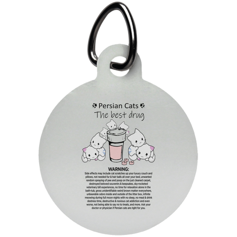 persian cats stem glass - UN5773 Circle Pet Tag