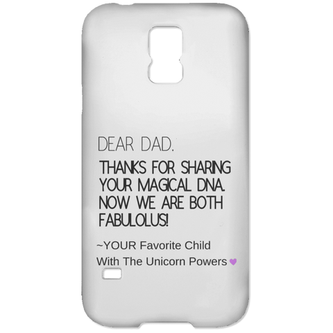 Funny Father's Day Gift For Dad From Wife, Daughter, Son, Stepdaughter, Stepson, Mom, Grandma, Mother In Law (9 dna unicorn dad Samsung Galaxy S5 Case)