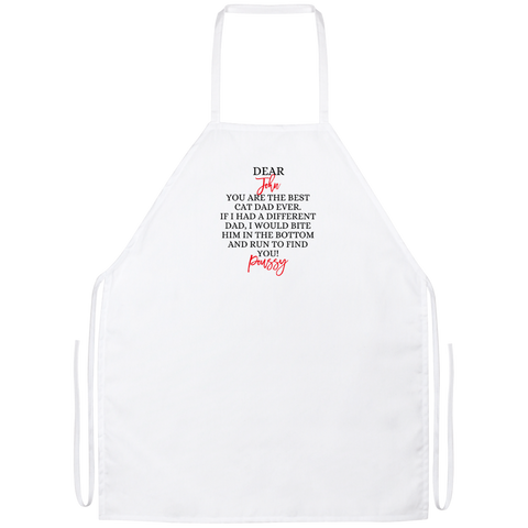 Funny Father's Day Gift For Dad From Wife, Daughter, Son, Stepdaughter, Stepson, Mom, Grandma, Mother In Law (5unny persian cat dad Apron)