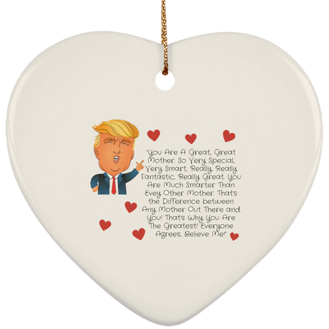 Funny Father's Day Gift For Dad From Wife, Daughter, Son, Stepdaughter, Stepson, Mom, Grandma, Mother In Law (Add heading (3)transp backgr SUBORNH Ceramic Heart Ornament)