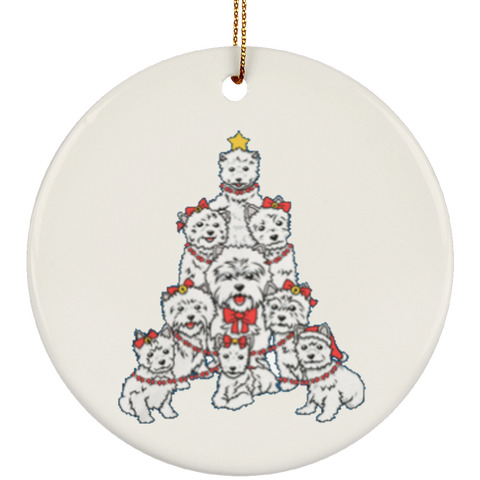 Ceramic Ornaments For Westie Dog Moms & Dads - Westies Dog Christmas Tree Ornament Holiday Gift