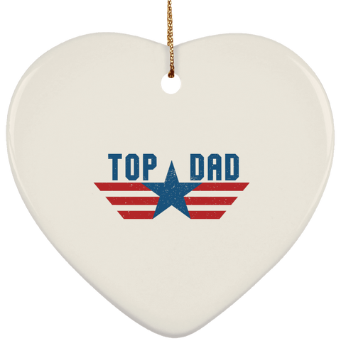 Funny Father's Day Gift For Dad From Wife, Daughter, Son, Stepdaughter, Stepson, Mom, Grandma, Mother In Law (6 od_1495732598337421 SUBORNH Ceramic Heart Ornament)