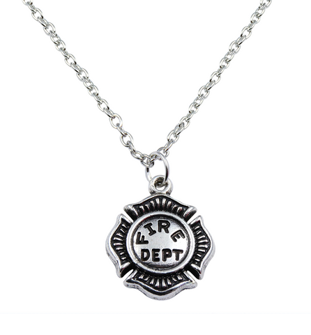 Fire Department Necklace, Jewelry, Trexify, FamilyTrophy.com - FamilyTrophy.com
