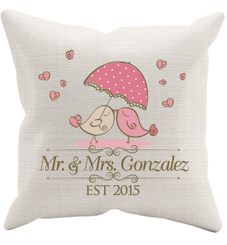 Personalized Anniversary Pillowcase, Pillow Case, Trexify, FamilyTrophy.com - FamilyTrophy.com
