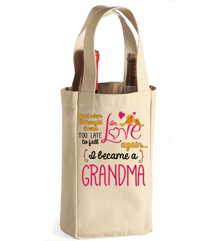 Personalized Grandma Winebag, Wine Bag, Trexify, FamilyTrophy.com - FamilyTrophy.com