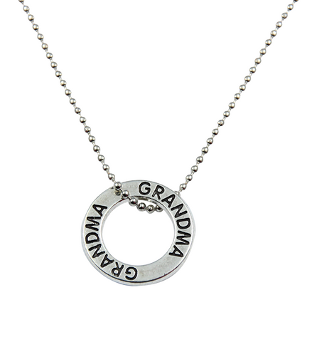 Grandma Forever Circle Necklace, Jewelry, Trexify, FamilyTrophy.com - FamilyTrophy.com