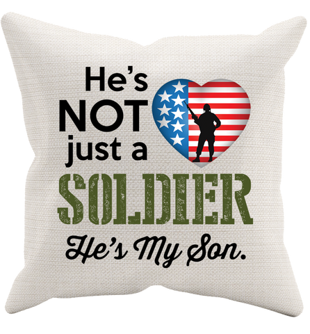He's Not Just A Soldier Pillowcase, Pillow Case, Trexify, FamilyTrophy.com - FamilyTrophy.com
