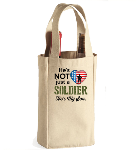 He's Not Just A Soldier Winebag, Wine Bag, Trexify, FamilyTrophy.com - FamilyTrophy.com