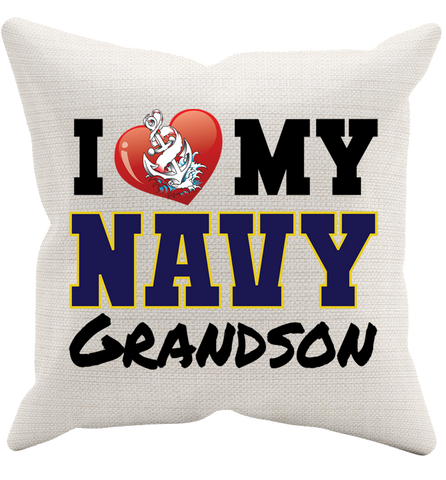 I Love My Navy Pillowcase, Pillow Case, Trexify, FamilyTrophy.com - FamilyTrophy.com